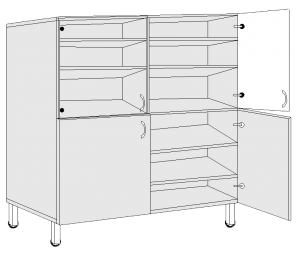 Шкафы лабораторные