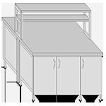 Мебель  лабораторная металлическая